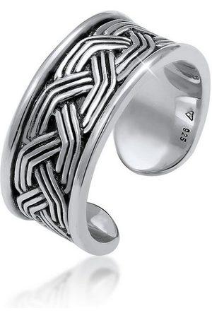 Kuzzoi Silberring »Herren Bandring Ornament Design Offen 925 «