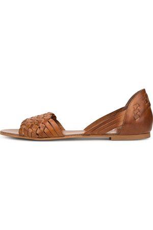 Cox Sandale in mittelbraun, Sandalen für Damen