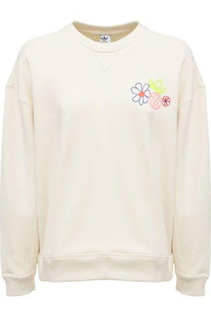 adidas Damen Sweatshirts - Sweatshirt Mit Rundem Ausschnitt