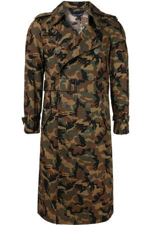 Comme des Garçons Herren Trenchcoats - Trenchcoat mit Camouflage-Print