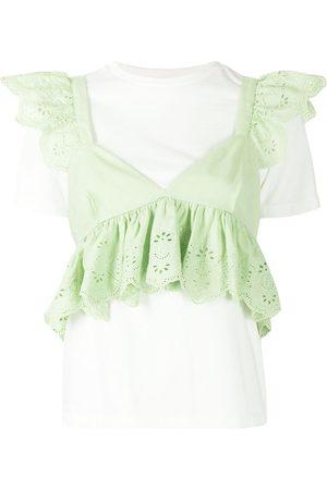 BAPY BY *A BATHING APE® Ruffle-trim blouse