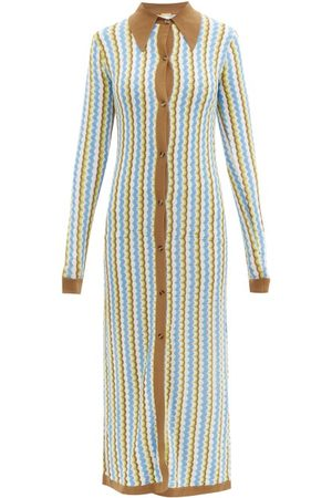 Dodo Bar Or Keshia Zigzag-knitted Maxi Dress