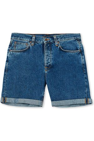 Nudie Jeans Josh Stretch Denim Shorts Friendly Blue