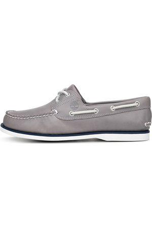 Timberland Bootsschuh 2-Eye Boat Shoe in hellgrau, Schnürschuhe für Herren