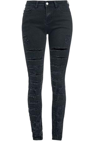 Black Premium by EMP Skarlett - Schwarze rockige Jeans mit Rissen Jeans