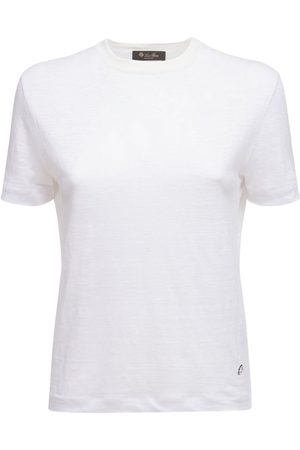 Loro Piana Damen T-Shirts, Polos & Longsleeves - T-shirt Aus Leinenjersey