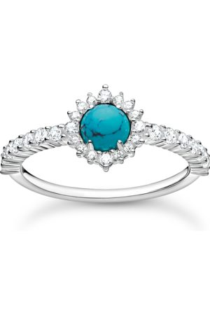 Thomas Sabo Damen Ringe - Ring Türkiser Stein mit weißen Steinen
