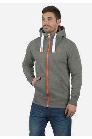 Solid Kapuzensweatjacke 'Benn High-Neck