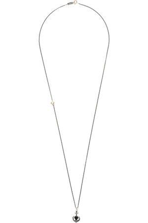 UGO CACCIATORI Halskette mit Herz- und Anker-Print