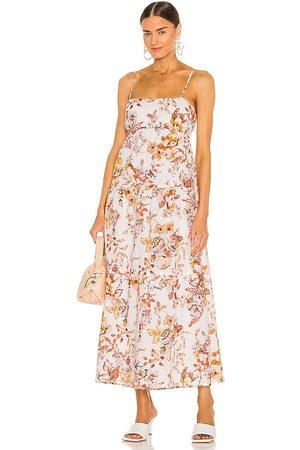 Bardot Floral Flow Dress in ,Orange. Size S, XS, M.