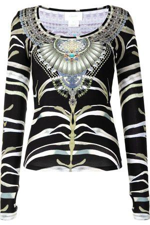 Camilla Oberteil mit Zebra-Print