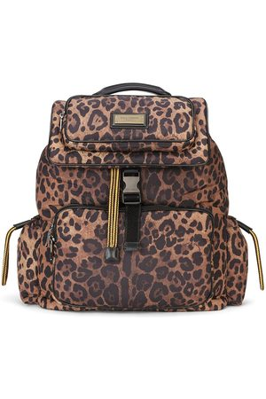 Dolce & Gabbana Rucksack mit Leoparden-Print