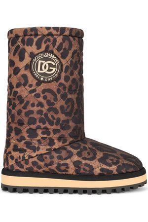 Dolce & Gabbana City Stiefel mit Leoparden-Print