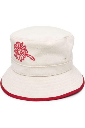 RED Valentino Damen Hüte - Fischerhut mit Blumenstickerei