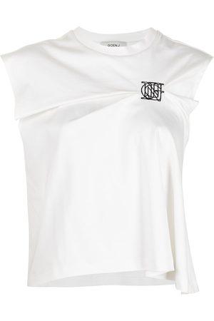 Goen.J T-Shirt mit Logo-Stickerei