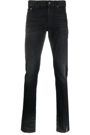Saint Laurent Jeans mit Logo-Patch