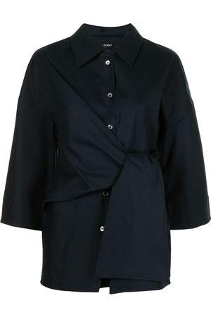 GOEN.J Damen Blusen - Gebundenes Hemd mit langem Schnitt