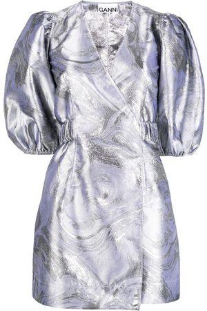 Ganni Kleid mit Puffärmeln