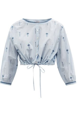 Le Sirenuse, Positano Jinny Hand-embroidered Cotton Cropped Top