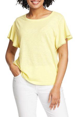 Eddie Bauer Gate Check T-Shirt mit weiten Ärmeln Damen Gr. XS