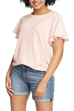 Eddie Bauer Damen T-Shirts, Polos & Longsleeves - Gate Check T-Shirt mit weiten Ärmeln Damen Natur Gr. XS