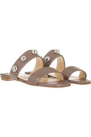 Christian Louboutin Damen Sandalen - Pumps & High Heels Simple Bille Dome Studs Flat Sandals Leather