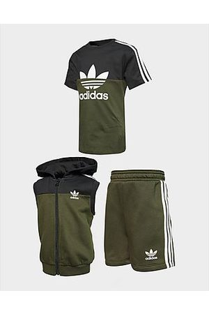 adidas Outfit Sets - 3-Stripes Hoodie Shorts Set Baby