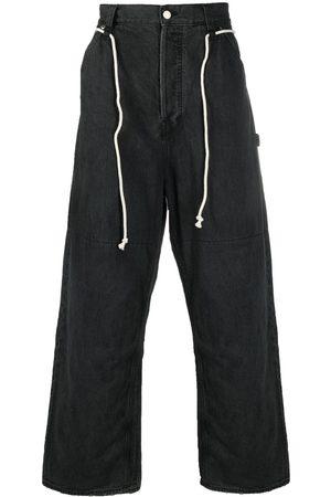 AMBUSH Oversized-Jeans mit Kordelzug