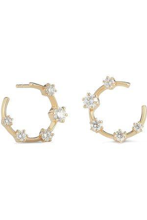 Jade Trau Damen Ohrringe - 18kt Gelbgoldcreolen mit Diamanten