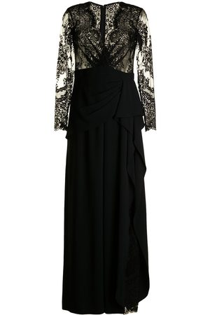 Zuhair Murad Scalloped-lace draped jumpsuit