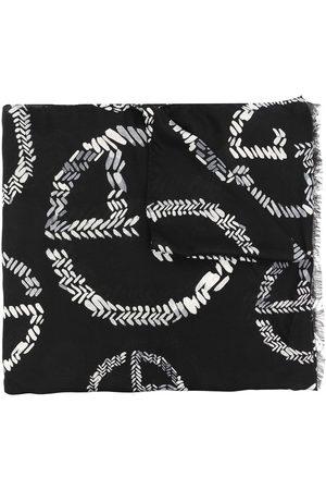 Armani Gestrickter Schal mit Logo-Print