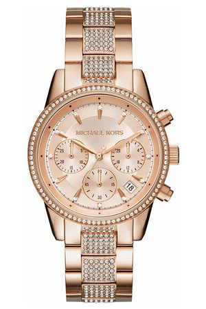 Michael Kors Damen Uhren - Uhr Ritz Chronograph Stainless Steel Watch rosa