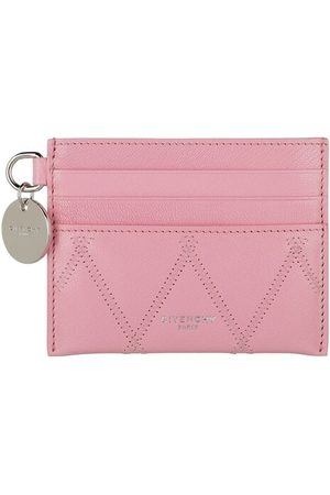 Givenchy Damen Geldbörsen & Etuis - Portemonnaie GV3 Simple Card Holder Quilted Leather pink