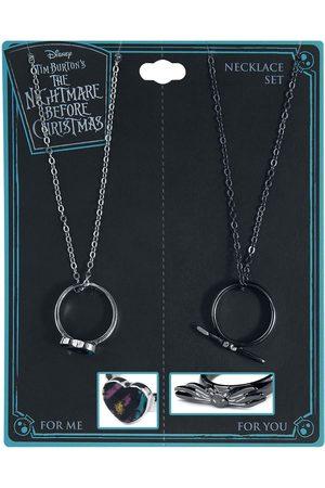 The Nightmare Before Christmas Damen Halsketten - Friend Ring Necklace Set Halskette silberfarben