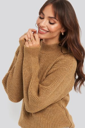 Trendyol Silvery Knitted Sweater - Brown
