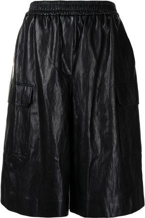 JUUN.J Shorts aus Leder mit Stretchbund