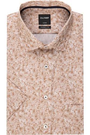 Olymp Herren Business - Halbarm-Hemd Luxor Modern Fit braun