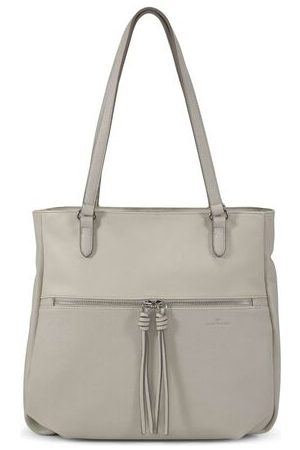 TOM TAILOR Helina Shopper mit Anhängern, off white /