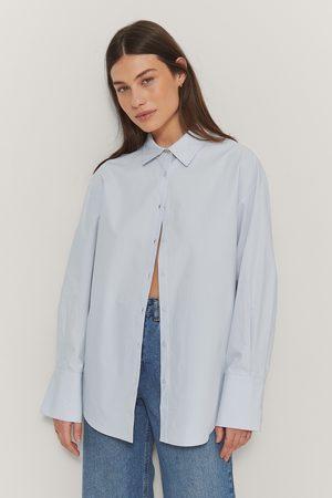 NA-KD Übergroßes Hemd - Blue