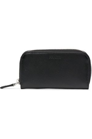 Prada Herren Geldbörsen & Etuis - Debossed-logo leather pouch