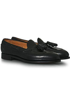 EDWARD GREEN Herren Halbschuhe - Belgravia Tassel Loafer Black Calf