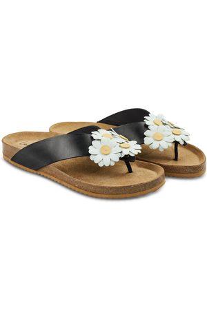 LaShoe Damen Flip Flops - Zehentrenner mit Gänseblümchen 36