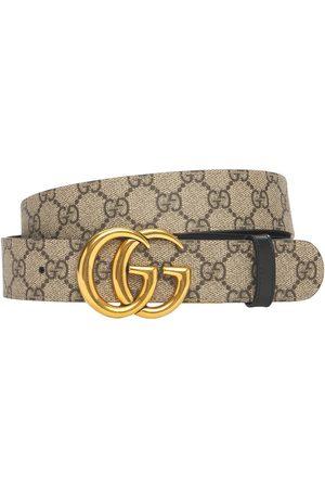 Gucci 3.7cm Gg Marmont Reversible Canvas Belt