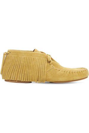 Loewe Loafers Aus Wildleder Mit Fransen
