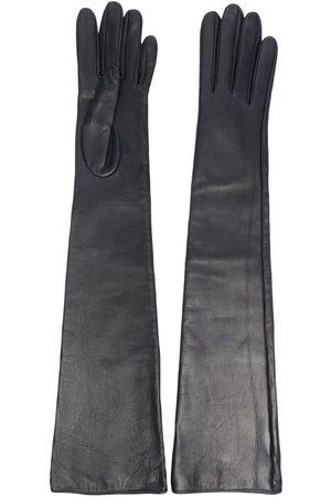 Manokhi Damen Handschuhe - Ellenbogenlange Lederhandschuhe