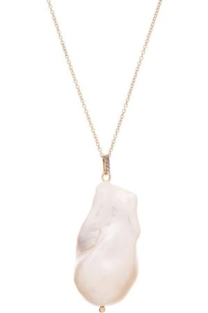 Mateo Damen Halsketten - Diamond, Baroque Pearl & 14kt Necklace