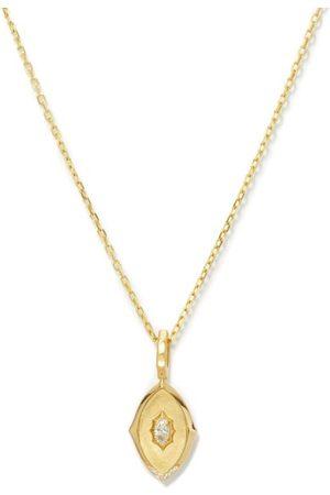 Jade Trau Maverick Medallion Diamond & 18kt Necklace