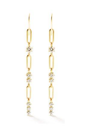 Jade Trau Pia Diamond & 18kt Drop Earrings