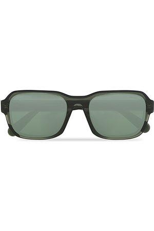 Moncler Lunettes Herren Sonnenbrillen - Icebridge Sunglasses Shiny Dark Green/Green Mirror