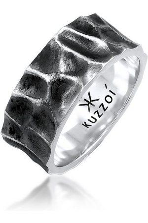 Kuzzoi Silberring »Herren Bandring Geschmiedet Used Look 925 Silber«